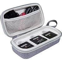Aenllosi 硬质手提箱,兼容 Rode Wireless GO II 双通道紧凑数字无线麦克风系统(灰色)
