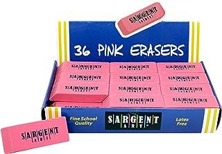 Sargent Art 36-1012 36 Count Eraser Best Buy Pack, Pink