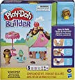Play-Doh Builder 冰淇淋架套装 适合 5 岁以上的儿童 带 8 种 培乐多 颜色简单 组装套装