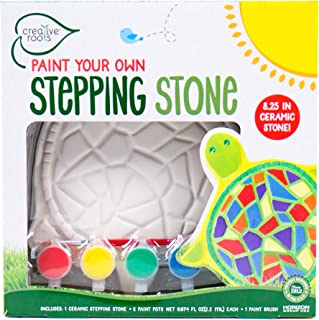 Creative Roots 92849 绘制你的乌龟 进身之阶 Horizon Group Usa, 6 个颜料池 带刷子,多色