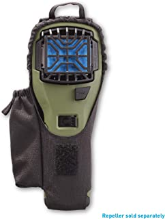 Thermacell 枪套,适用于 MR300 和 MR450 便携式驱蚊器,黑色弹道尼龙带替换储物袋,弹性封口和可拆卸夹子;附于背包、露营装备、腰带等