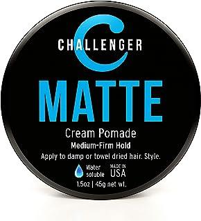 Challenger 男士哑光发蜡,1.5 盎司(约 42.5 克)   天然光泽,干净细腻的香味   中等紧致   *佳水基*造型膏、蜡、纤维、粘土和凝胶