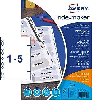 Avery Zweckform 1810061 文件夹 标签 规格 A4 带欧式穿孔 5 枚入 白色硬纸板 空白标签 内容页和印刷标签 适用于所有文件夹