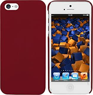 mumbi 保护壳 iPhone SE 5 5S 手机套(硬质背面)亚光红色