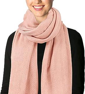 APPARELISM 女士男士冬季纯色柔软针织保暖大围巾披肩。
