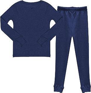 流行男孩棉质华夫格保暖内衣套装长裤