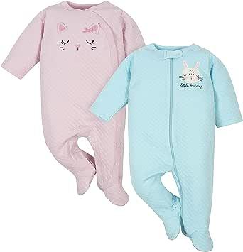 Gerber 女童 连体衣 睡觉&玩耍 两件套