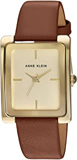 Anne Klein 女士皮质表带腕表 AK/2706
