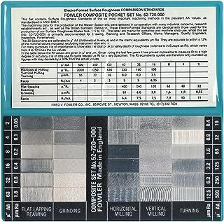 Fowler 52-720-000-0 表面粗糙度标准全套秤,30 个样品