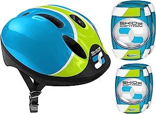 Stamp 蓝色组合头盔 + 护膝防滑控制,K680507
