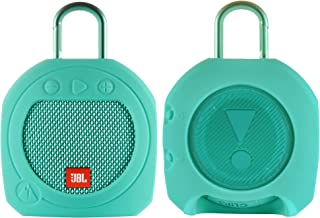 TXEsign 保护硅胶支架保护套,适用于 JBL Clip 3 防水便携式蓝牙扬声器