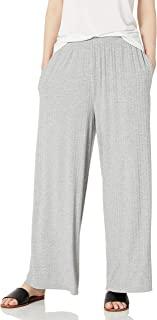 Amazon Brand - Daily Ritual 女式人造丝氨纶宽罗纹休闲裤