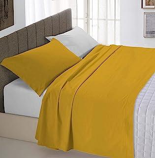 """意大利床上用品""""自然色""""床上用品套装,芥末色/浅灰色,单人床"""
