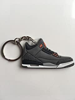 Jordan Retro 3 Fear 运动鞋钥匙扣鞋钥匙圈 AJ 23 OG