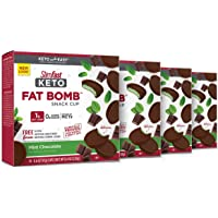 SlimFast Keto Fat Bomb Snacks, Mint Cup, 14 Count Box, Pack…