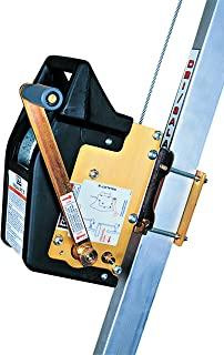 3M DBI-SALA Salali' II 8102005 限量空间系统 304.8 cm 宽、0.48 cm 镀锌电缆,旋转按扣钩,安装支架,手提包,黑色和阳极氧化黄