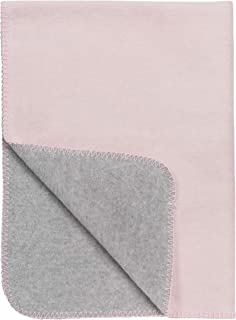 "Meyco 1441011 婴儿毯""ZWEIFARBIG""粉红色灰色 100x150 厘米"
