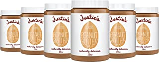 Classic Peanut Butter by Justin's, Only Two Ingredients, Gluten-free, Non-GMO, Responsibly Sourced, 6 Jars (28oz each)