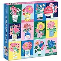 Galison Ever Upward 拼图, 500 片– 彩色拼图, 艾米丽·泰勒插图 – 厚实、坚固、具有挑战性的…