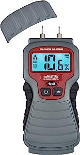 Calculated Industries 7440 AccuMASTER XT 数字水分仪 ¬ 手持式耳机类型 √ 背光 LCD 显示屏 – 检测木头、墙壁、天花板、地毯和木头的漏气、潮湿和* 7440