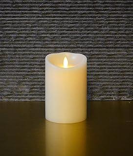 Muse Alight 12.7 cm 常规无焰电子蜡柱蜡烛电池供电,带有定时功能。 象牙色,香草香味。 包括遥控器。 (常规 8.89 厘米 x 12.70 厘米)。