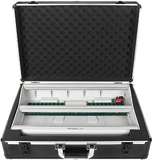 适用于 TipTop Mantis 或类似的欧拉箱(运输箱,铝制角落保护盖,带提手的软垫盖),黑色