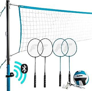 Franklin Sports 蓝牙排球/羽毛球组合 - 完整组合套装 - 蓝牙扬声器 - 便携包