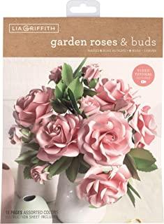 Lia Griffith 磨砂纸花花园玫瑰和花蕾,8.5 x 11 英寸(约 21.5 x 27.9 厘米),各种颜色,16 页