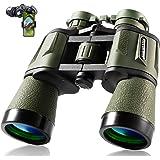 20x50 成人狩猎双筒望远镜,28 毫米大号目镜,高清专业观鸟双筒望远镜,用于徒步观光旅游运动音乐会,带 BAK4 棱…