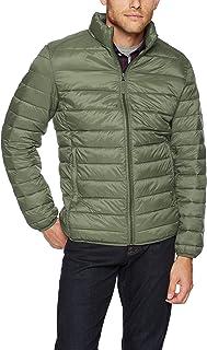 Amazon Essentials 男式轻质防水可压缩羽绒服