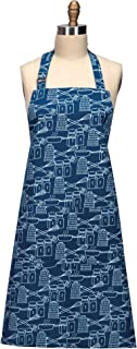 Kay Dee Designs R3551 厨师印花围裙,靛蓝色