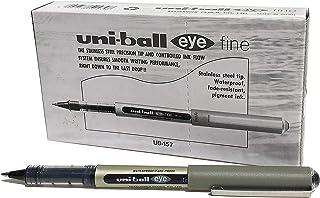 uni 三菱 透视耐水性直液式走珠笔UB-157(笔芯黑色)12支/盒 黑