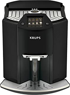 Krups 克鲁伯 Barista New Age 全自动咖啡机 卡布奇诺一键式制备 彩色触屏显示器,1.6L,碳黑色