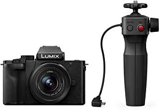 Panasonic 松下 Lumix DC-G110VEG-K 系统相机(2000万像素,4K,图像稳定器,7.5厘米触控,12-60毫米镜头,三脚架手柄,黑色)