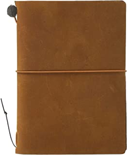 MIDORI TRAVELER'S Notebook 皮質筆記本 駝色 護照型