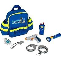 Theo Klein 8802 - 警察背包,带许多警察用具,玩具,蓝色
