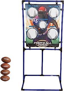 Sport Squad Target 投掷游戏套装 - 选择足球投掷或棒球投掷 - 便携式室内或室外设计,可用于烹饪、尾板或后院乐趣