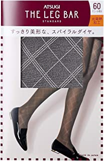 ATSUGI 厚木 THE LEG BAR 相当于50旦尼尔 螺旋菱形图案 BAR 女士