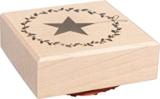 Rayher 29217000 印章 叶环 带星星 6 × 6 厘米 白色 标准