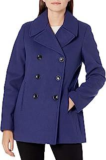 Calvin Klein 女式双排扣仿羊毛大衣