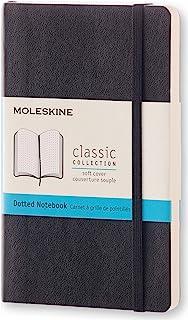 Moleskine 口袋点阵笔记本 A6,带软套,黑色