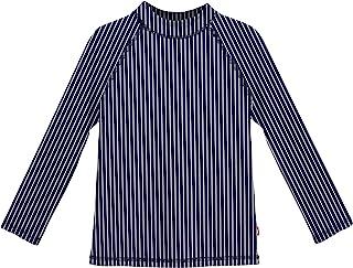 City Threads LS 女童*衣游泳衣 游泳 T 恤 UPF50+ 沙滩泳池*,夏季乐趣,*蓝 W 白色条纹,4T
