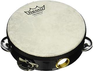 Remo 纤维skyn tambourine - quadura 黑色,6 英寸