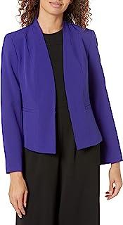 Kasper 女式弹力绉纱夹克