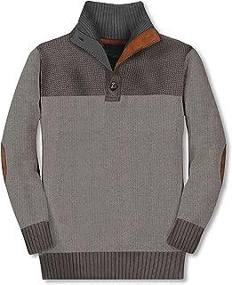 Gioberti 儿童和男孩 * 纯棉系扣领针织套头毛衣
