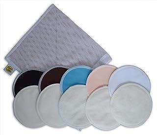 有机竹护理垫10个装带洗衣袋–超柔软提供良好免于 leaking 可重复使用防*可水洗哺乳乳垫