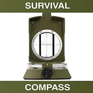 Swiss Safe 多功能*生存指南针 - 高级导航指南针,适用于露营、徒步、户外和紧急生存场景