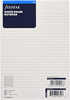 filofax 斐来仕 342210 A5 便签本 笔记本内页 活页替芯 内芯 配件(白色)