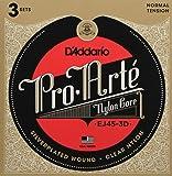 D'Addario EJ45-3D Pro-Arte 尼龙经典吉他弦,正常张力,3 件套