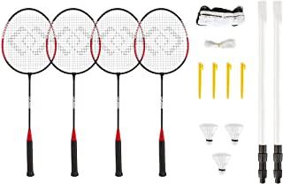 Hy-Pro 4 球员羽毛球套装 - 4 个球拍,3 个羽毛球,网,杆和手提箱